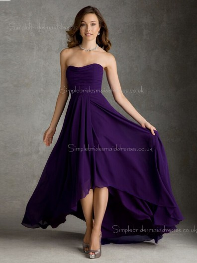 Regency Sleeveless Natural Bateau Ruffles A-line Zipper Sweep Chiffon Bridesmaid Dress