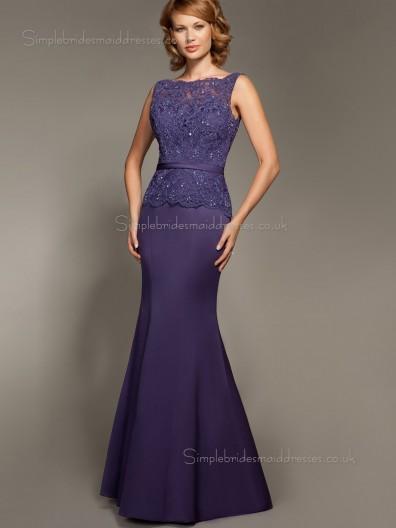 Regency Sleeveless Bateau Floor-length Backless Applique Natural A-line Chiffon Mother of the Bride Dress