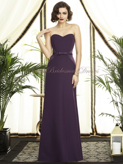 Strapless/Sweetheart Sash Sleeveless Natural Chiffon A-line Floor-length eggplant Grape Backless Bridesmaid Dress
