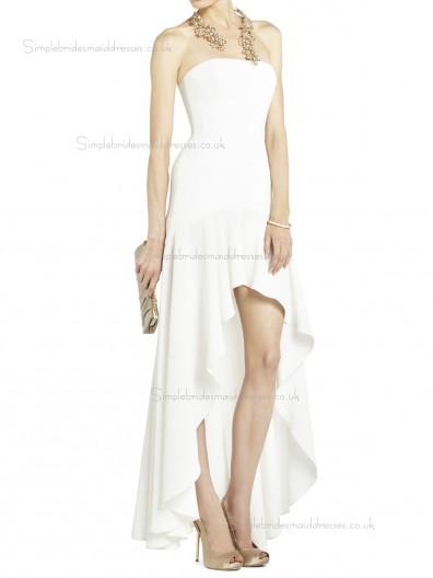 White Floor-length Chiffon Natural Bateau A-line Bridesmaid Dress