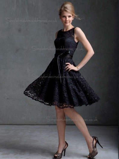 Sale Lace Bateau A-line Bridesmaid Dress