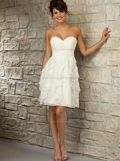 Stunning Chiffon Sweetheart A-line Bridesmaid Dress