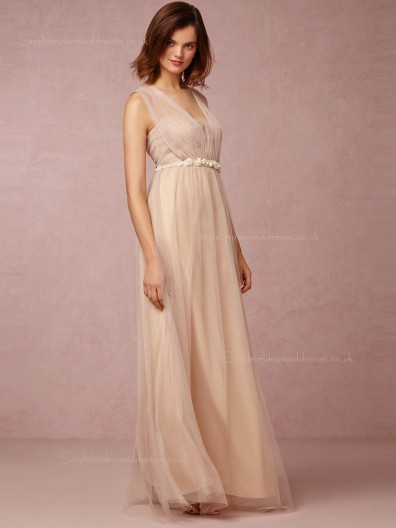 Online Sale A-line Hand Made Flower Bridesmaid Dresses