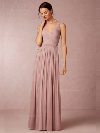 Beautiful Pink Lace A-line Bridesmaid Dresses