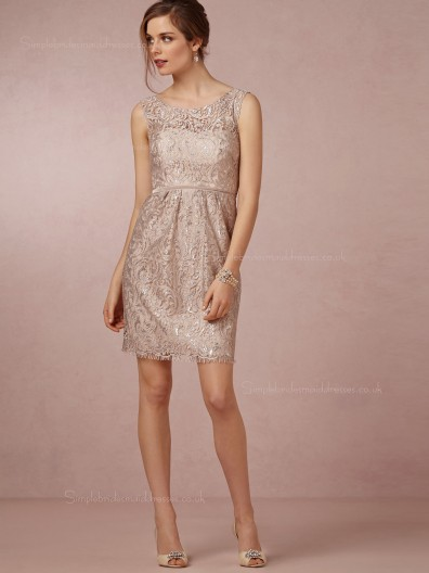 Exquisite Applique Champagne Sleeveless Empire Bridesmaid Dresses