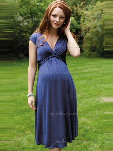 Online Romantica Purple Chiffon Knee-length Bridesmaid Dresses