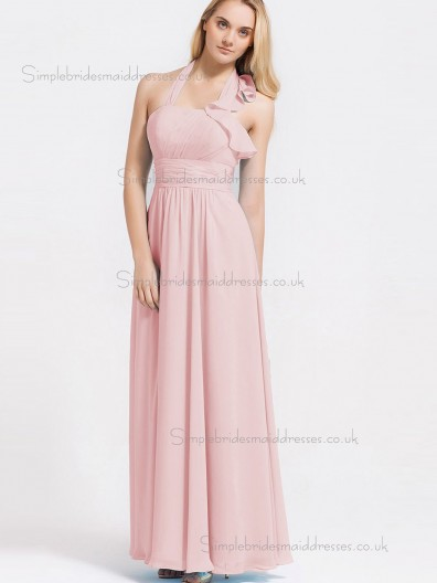UK Best Pink Floor-length Chiffon Bridesmaid Dresses