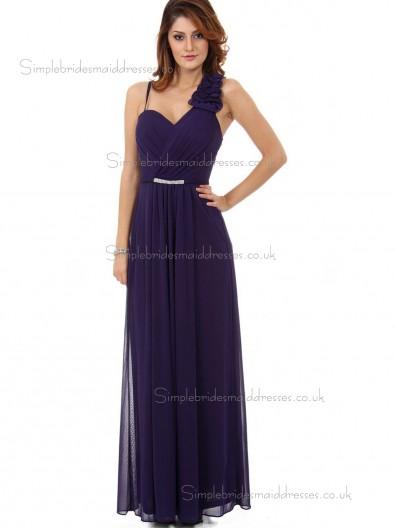 Elegant Floor-length Chiffon Regency Draped Bridesmaid Dresses