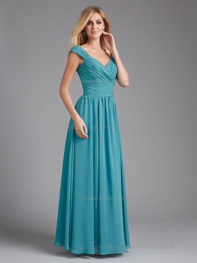 Designer Jade Floor-length Ruffles Chiffon Bridesmaid Dresses