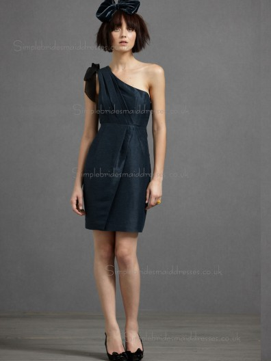 Vintage Romantica Dark Navy Short-length Satin Bridesmaid Dresses