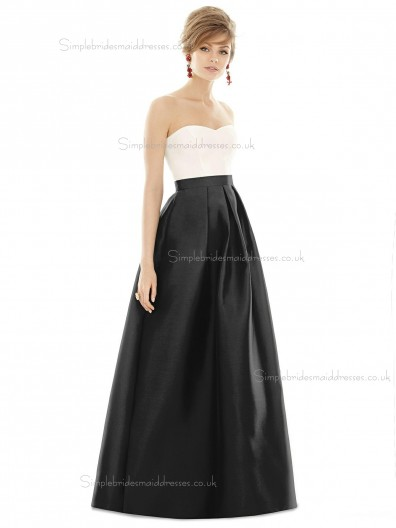 Beautiful A-line Sweetheart Satin floor-length Bridesmaid Dress