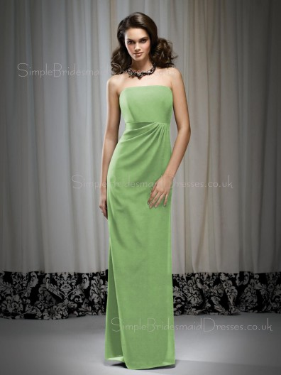 Floor-length Sheath Sleeveless Empire Chiffon Bridesmaid Dress