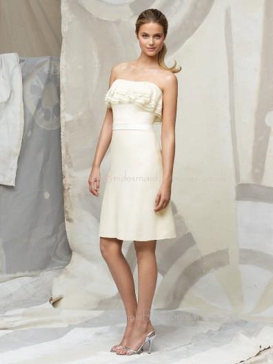 Chiffon Sleeveless Natural Ruffles/Tiered Zipper Bridesmaid Dress