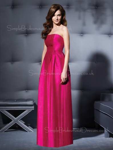 A-line Empire Sleeveless Draped/Ruffles Strapless Bridesmaid Dress