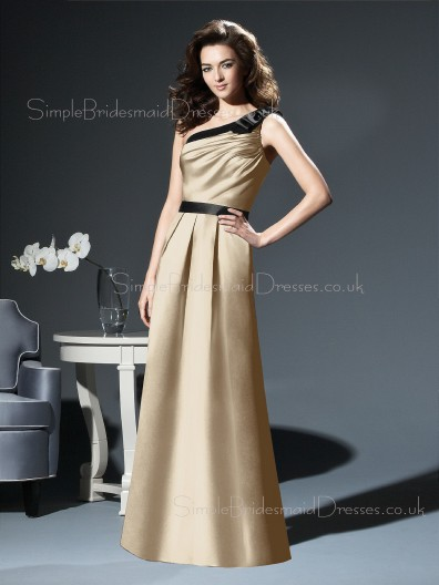 Zipper Floor-length Sleeveless A-line Natural Bridesmaid Dress