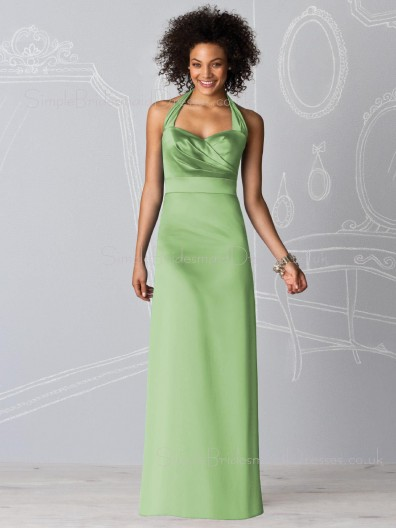 Empire Ruffles Sheath Zipper Floor-length Bridesmaid Dress