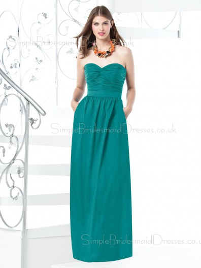 A-line Natural Zipper Chiffon Floor-length Bridesmaid Dress