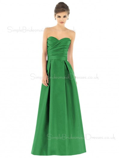 Natural Taffeta Floor-length Backless Ruffles Bridesmaid Dress