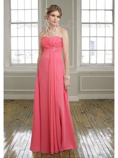 Chiffon Zipper Draped/Ruffles Empire A-line Bridesmaid Dress