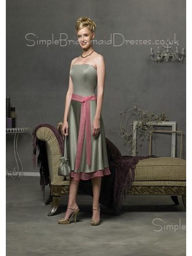 Elastic-Satin Natural Zipper Sleeveless Knee-length Bridesmaid Dress