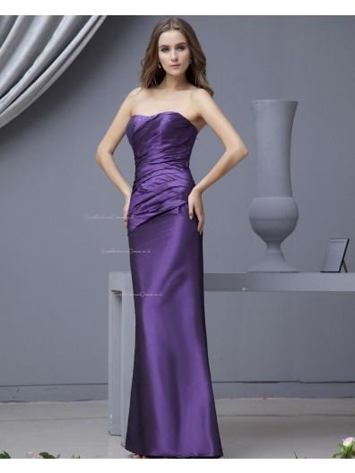 Up Floor-length Regency Taffeta Sleeveless Lace A-line Natural Ruffles/Draped Sweetheart Bridesmaid Dress