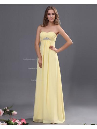 Zipper Chiffon Sweetheart Floor-length Ruffles/Beading/Draped Natural Daffodil A-line Sleeveless Bridesmaid Dress