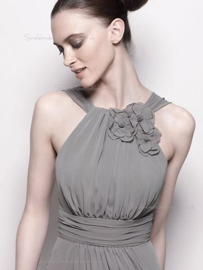 Discount beautiful Silver / Grey  Knee length / Short Lenght Bridesmaid Dress SBMD-E-1002