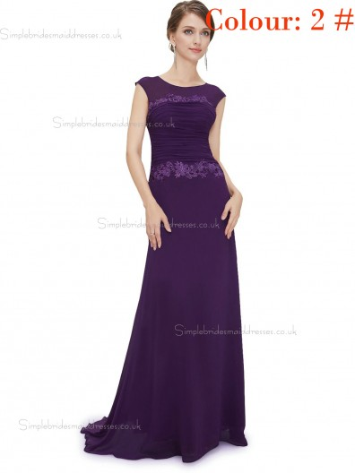 Regency Online Amazing Round Neck Long Elegant Sexy Bridesmaid  Dress