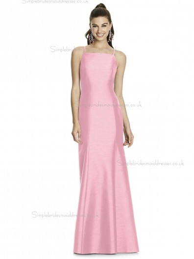UK Beautiful Romantica Long Candy Pink Sleeveless Memaid Bridesmaid Dress