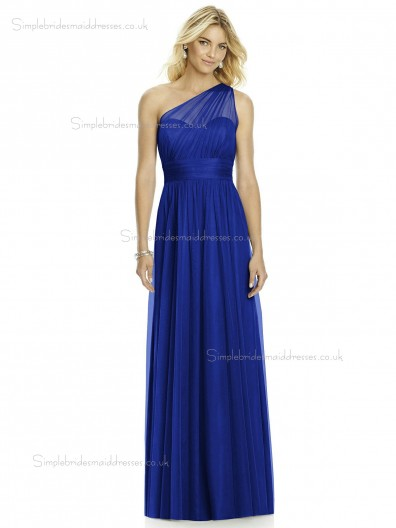 Beautiful Discount Soft Tulle Royal Blue Bridesmaid Dress SBMD-SD-1055