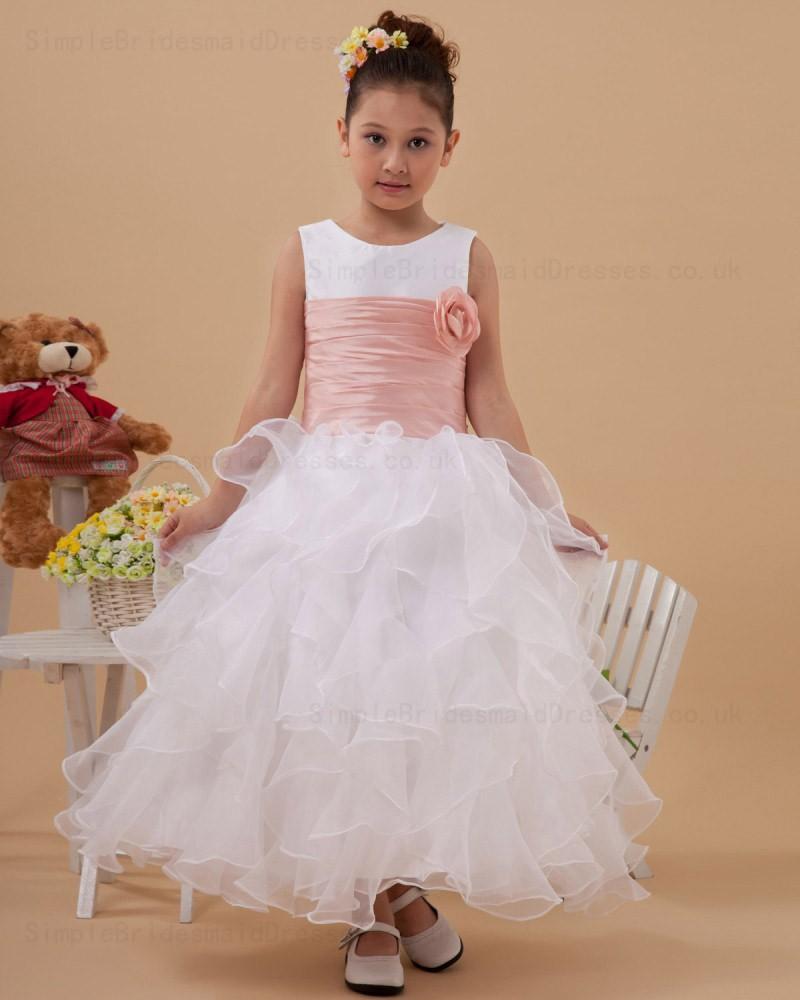 White Baby Flower Girl Dresses Uk