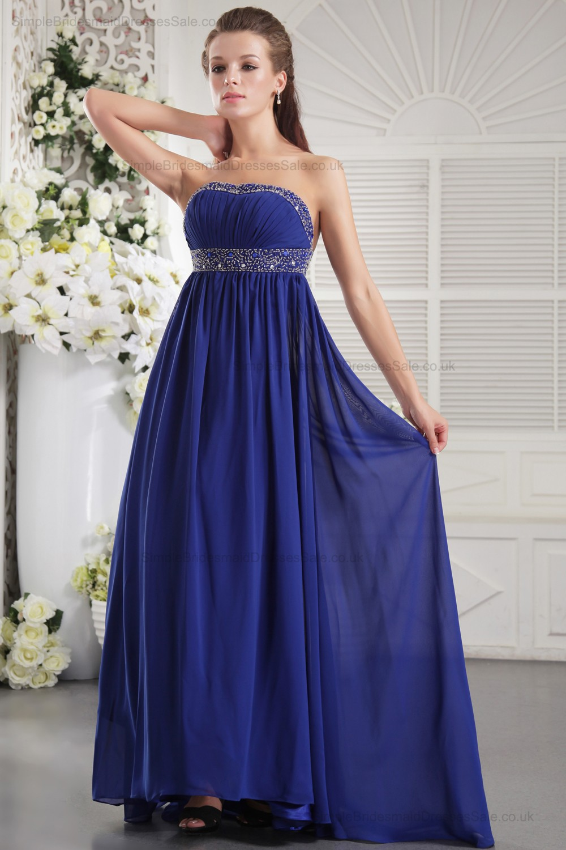 Roya blue zipper sheath sleeveless chiffon bridesmaid dresses roya blue zipper sheath sleeveless beadingrufflescrystalribbons strapless chiffon empire ombrellifo Choice Image