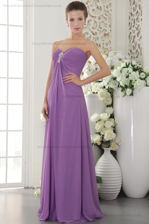 Lilac Sheath Natural Sleeveless Zipper Bridesmaid Dresses - (SBMD-B ...