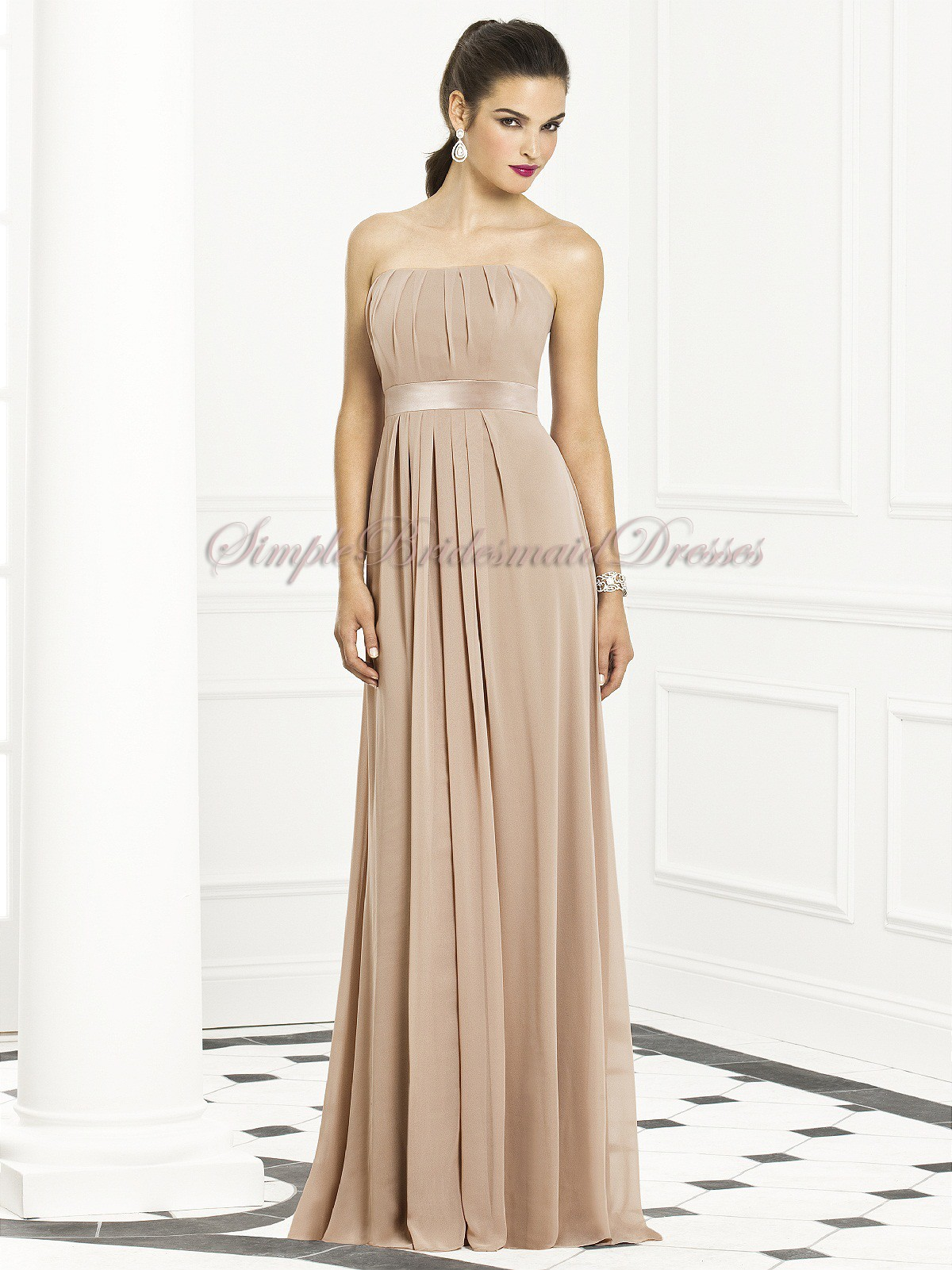 Champagne bridesmaid dresses uk cheap champagne bridesmaid zipper strapless empire sleeveless floor length a line drapedsash topaz chiffon champagne bridesmaid dress ombrellifo Choice Image