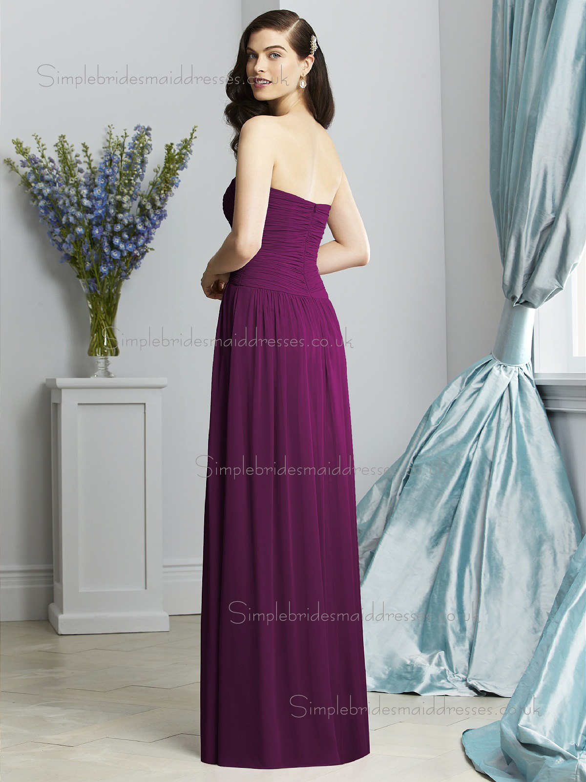 100 bridesmaid dresses deep purple 794 bridesmaid dresses best 10 bridesmaid gowns wild berry purple chiffon draped natural sleeveless floor length ombrellifo Images