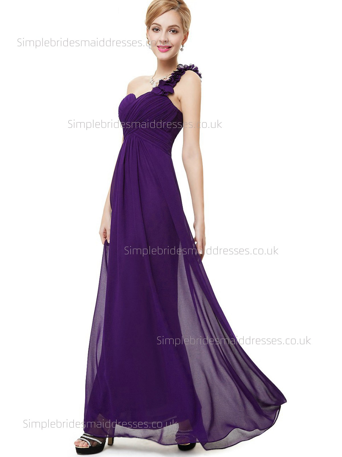 Beautiful Amazing Floor-length Sweetheart Chiffon A-line Sleeveless ...
