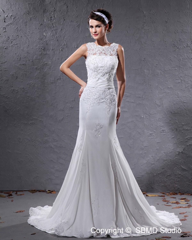 Chiffon empire ivory sleeveless zipper wedding dress for Empire wedding dresses uk