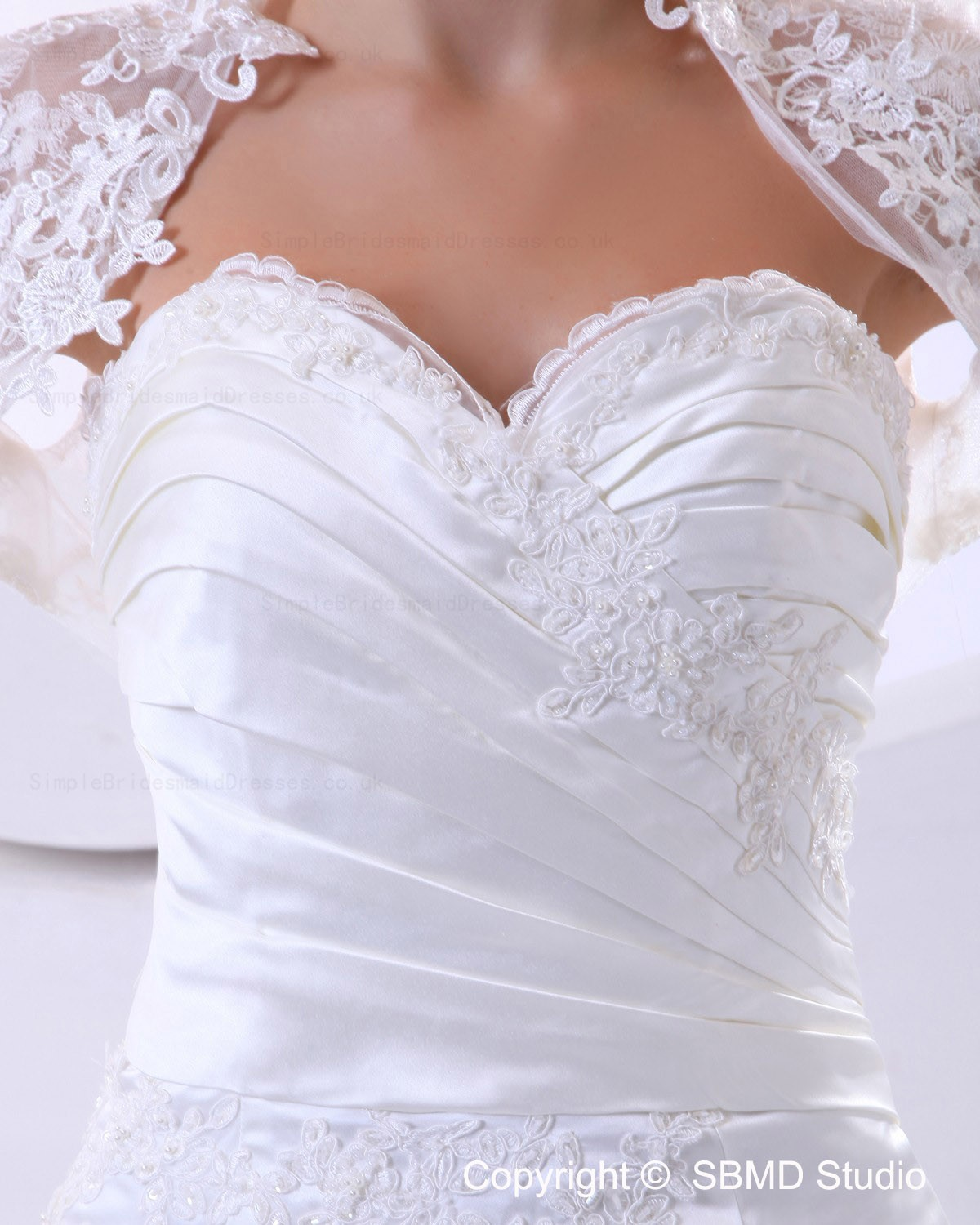 Satin Lace Applique Lace Ruffles Sweetheart Mermaid
