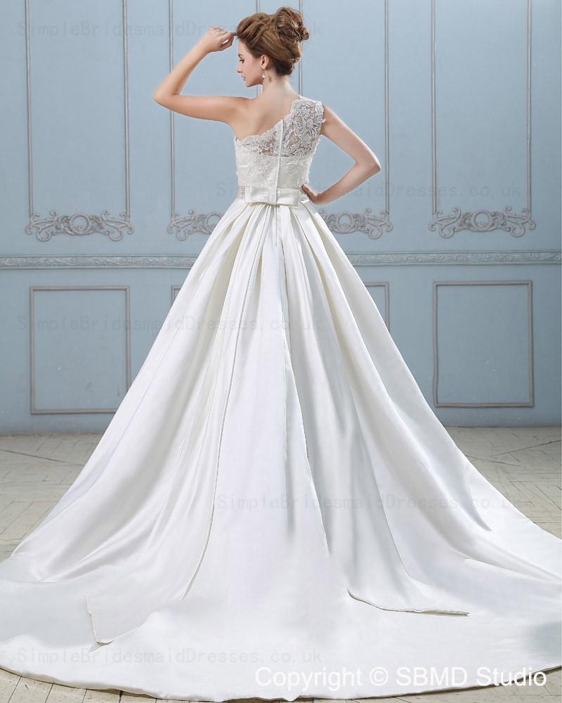 Chapel empire zipper a line ivory wedding dress for Empire wedding dresses uk