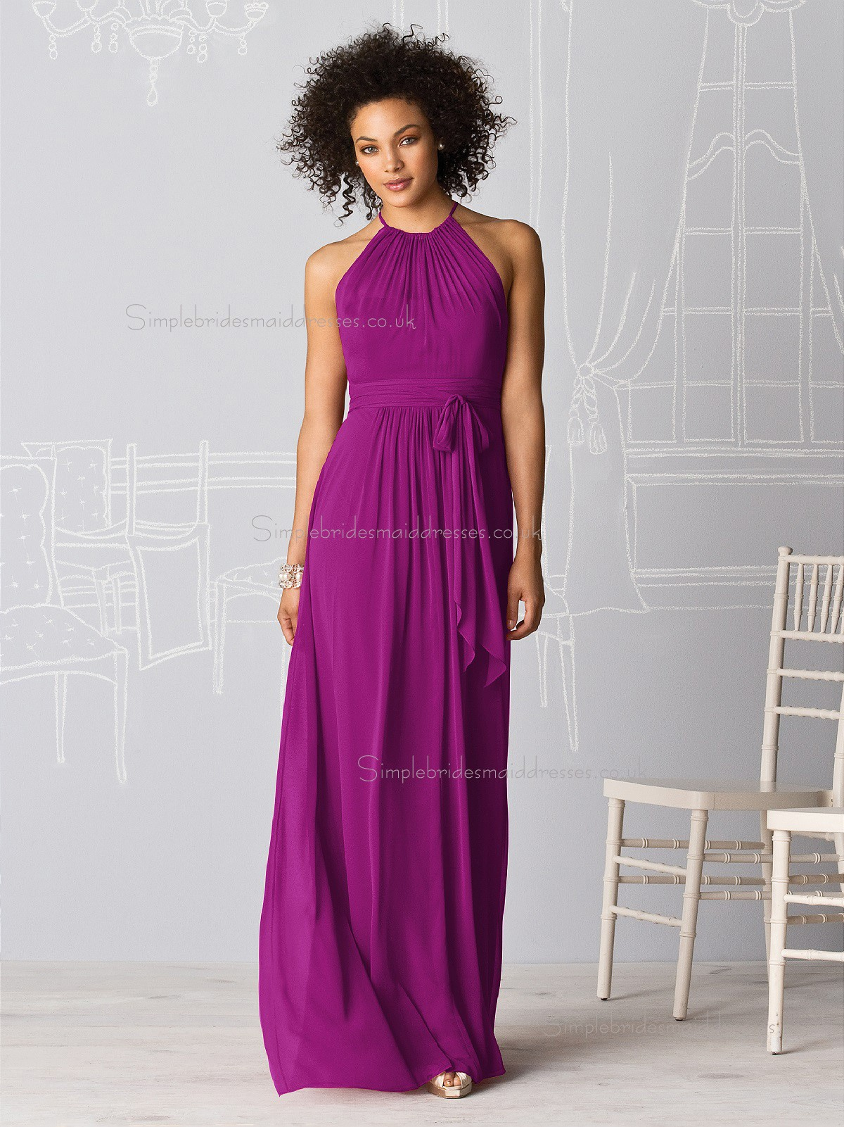 Luxury Stylish Persian Plum Floor Length Bridesmaid dresses ...