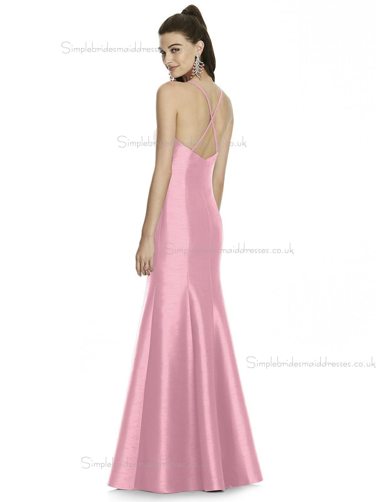 UK Beautiful Romantica Long Candy Pink Sleeveless Memaid