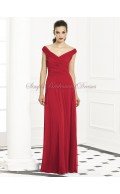Zipper Floor-length Sleeveless A-line Ruched valentine Natural Chiffon Red Straps/V-neck Bridesmaid Dress