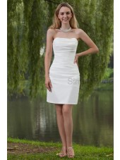 Zipper Taffeta Sheath White Sweetheart Sleeveless Knee-Length Ruched Natural Bridesmaid Dress
