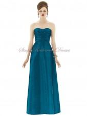 A-line Sweetheart Sleeveless Floor-length caspian Natural Ruched Hunter Zipper Taffeta Bridesmaid Dress