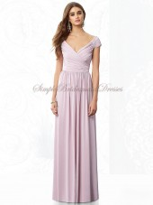 Floor-length Chiffon suede-rose Sleeveless Straps Lavender Natural Zipper Ruched/Draped A-line Bridesmaid Dress