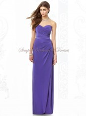 regalia Draped/Split Zipper Sleeveless Floor-length Empire A-line Chiffon Strapless/Sweetheart Regency Bridesmaid Dress