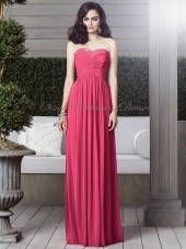 A-line Sleeveless Natural Strapless/Sweetheart Fuchsia Zipper Draped/Sequin Floor-length pantone-honeysuckle Chiffon Bridesmaid Dress