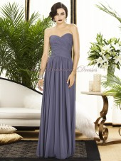 stormy Draped Floor-length Dropped Sleeveless Strapless/Sweetheart Zipper A-line Chiffon Grey Bridesmaid Dress