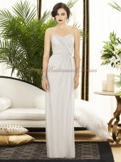 oyster Chiffon Column/Sheath Dropped Ivory Floor-length Draped Sleeveless Zipper Strapless/Sweetheart Bridesmaid Dress