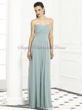 Zipper A-line Blue Strapless/Sweetheart Empire Floor-length Sleeveless Draped icelandic Chiffon Bridesmaid Dress